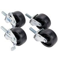 Bulman 397 3 5/8 inch Casters - 4 / Set
