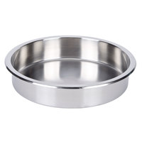 Stainless Steel 6.5 Qt. Round Food Pan for Chafers