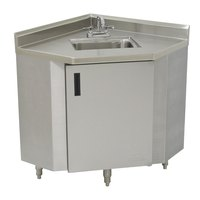 Advance Tabco SHK-1735 Stainless Steel Corner Sink Cabinet - 17 inch Width