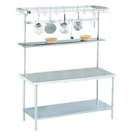 Advance Tabco SWT-144 Smart Fabrication 144 inch Rear or Splash Mount Stainless Steel Pot Rack / Utensil Rack