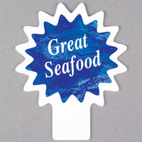 Deli Tag Topper - GREAT SEAFOOD - Ocean Blue
