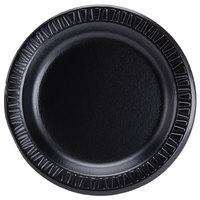 Dart 7PBQR Quiet Classic 7 inch Black Laminated Round Foam Plate - 1000/Case