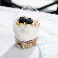 Fineline Tiny Temptations 6407-CL 2.2 oz. Tiny Trifles Clear Plastic Bowl   - 10/Pack