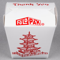 Fold-Pak 16MWPAGODM 16 oz. Pagoda Chinese / Asian Microwavable Paper Take-Out Container   - 450/Case