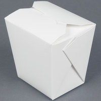 Fold-Pak 16MWWHITEM 16 oz. Microwavable White Take-Out Container 450 / Case