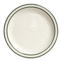 Tuxton TES-006 Emerald 6 1/2 inch Green Speckle Narrow Rim China Plate - 36/Case
