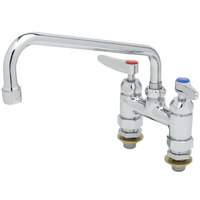T&S B-0226-CC Deck Mounted Faucet with 10 inch Swing Nozzle, 4 inch Centers, 17.9 GPM Stream Regulator Outlet, Eterna Cartridges, and Lever Handles
