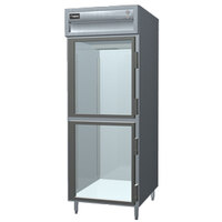Delfield SSR1S-GH Stainless Steel 18 Cu. Ft. One Section Glass Half Door Shallow Reach In Refrigerator - Specification Line