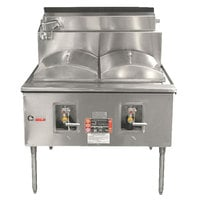 Town CF-2-P Natural Gas Two Compartment Cheung Fun Noodle Range - 98,000 BTU