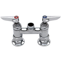 T&S B-0225-EELN Deck Mount Faucet Base with 4 inch Centers and EE Connections