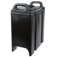 Cambro 350LCD110 Camtainer 3.375 Gallon Black Insulated Soup Carrier