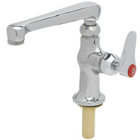 T&S B-0208-CR-HW Single Deck Mount Temperature Faucet with 6 inch Swing Cast Spout, Cerama Cartridge, and Red Hot Water Index