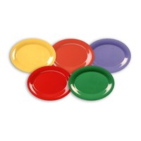 Thunder Group CR212MXP Assorted Color 12 inch x 9 inch Platters - 60/Case