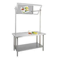 Advance Tabco VSS-DT-366 Stainless Steel Demo Table with Mirror - 72 inch