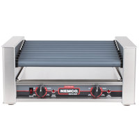 Nemco 8027SX-SLT Slanted Hot Dog Roller Grill with GripsIt Non-Stick Coating - 27 Hot Dog Capacity, 220V