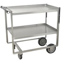 Advance Tabco UCS-1 Stainless Steel Two Shelf Heavy-Duty Utility Cart - 39 1/2 inch x 35 1/2 inch x 21 inch