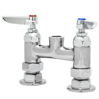 T&S B-0326-LN-SC Deck Mount Mixing Faucet with 4 inch Adjustable Centers and Eterna Cartridges