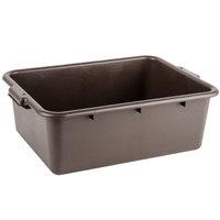 Choice 20 inch x 15 inch x 7 inch Brown Polyethylene Bus Tub