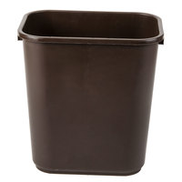 Continental 2818BN 28 Qt. / 7 Gallon Brown Rectangular Wastebasket / Trash Can
