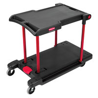 Rubbermaid FG430000BLA Black Convertible Utility Cart