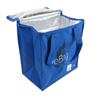 ReBag Reusable Blue Thermal Grocery Shopping Bag - 25 / Case