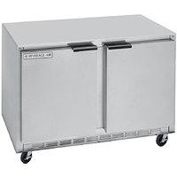 Beverage-Air UCRF50A-1-SA-B 50 inch Dual Temp Undercounter Refrigerator / Freezer