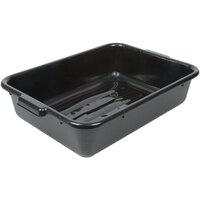 Tablecraft 1529B Black 21 inch x 16 inch x 5 inch Polyethylene Plastic Bus Tub, Bus Box