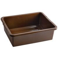 Tablecraft 1557BR Brown 21 inch x 17 inch x 7 inch Heavy Duty Polyethylene Plastic Bus Tub