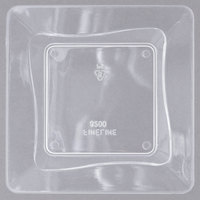 Fineline Tiny Temptations 6200-CL 3 inch x 3 inch Tiny Trays Disposable Clear Plastic Tray - 10/Pack