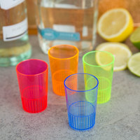 Fineline Quenchers 4115-MIX 1.5 oz. Mixed Neon Hard Plastic Shooter Glass - 12/Pack