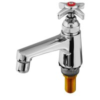 T&S B-0710-HW 2.2 GPM Hot Water Basin Faucet with 4 Arm Handle and Tailpiece