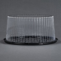 D&W Fine Pack G27 9 inch 2-3 Layer Cake Display Container with Clear Dome Lid - 10 / Pack