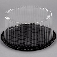 D&W Fine Pack G27-1 9 inch 2-3 Layer Cake Display Container with Clear Dome Lid - 10/Pack