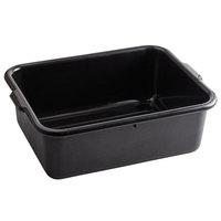 Tablecraft 1537B Black 21 inch x 16 inch x 7 inch Polyethylene Plastic Bus Tub, Bus Box