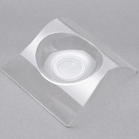 Fineline Tiny Temptations 6204-CL 2 3/4 inch x 2 3/4 inch Tiny Teasers Disposable Clear Plastic Tray   - 10/Pack