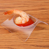 Fineline 6204-CL Tiny Temptations 2 3/4 inch x 2 3/4 inch Tiny Teasers Disposable Clear Plastic Tray - 10/Pack