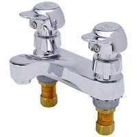 T&S B-0837-PA Vandal Resistant Deck Mount Centerset Metering and Mixing Faucet with 4 inch Centers and Pivot Action Cartridges