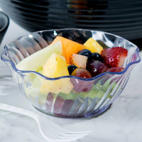 Cambro SRB13152 13 oz. Clear Customizable Plastic Swirl Bowl - 24/Case