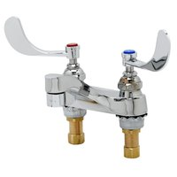 T&S B-0890-QT-VRS Vandal Resistant Deck Mount Centerset Faucet with 4 inch Centers, 4 inch Wrist Action Handles, and Quarter Turn Eterna Cartridges
