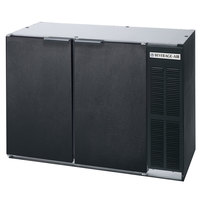 Beverage Air BB48YF-1-B 48 inch Back Bar Refrigerator with Black Exterior and 2 Solid Doors - 115V