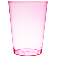 Fineline Savvi Serve 410-RD 10 oz. Tall Neon Red Hard Plastic Tumbler - 500/Case