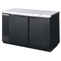 Beverage Air BB58F-1-B 58 inch Black Food Rated Solid Door Back Bar Cooler with Two Doors
