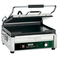 Waring WFG275 Tostato Supremo Smooth Top & Bottom Sandwich Toasting Grill - 14 inch x 14 inch Cooking Surface - 120V, 1800W