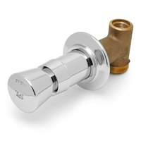 T&S B-1029-UCP Vandal Resistant Concealed Straight Valve with Push Button Cap