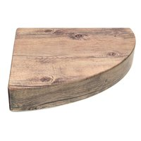 Elite Global Solutions M1512TR Fo Bwa Faux Driftwood Right Quarter Circle Riser - 12 inch x 15 inch