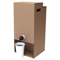 LBP 7150 3 Gallon Kraft Catering Beverage Dispenser - 10/Case