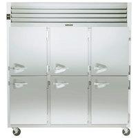 Traulsen G31002 3 Section Half Door Reach In Freezer - Right Hinged Doors