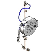 T&S B-1444-CV 50' Enclosed Hose Reel with 8 inch Centers, B-0107 Spray Valve, Control Valve, Check Valves, and Vacuum Breaker