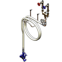T&S B-1450-01 Washdown Station with 1/2 inch Mixing Valve, 50' Hose, and Water Gun