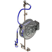 T&S B-1434-RG 50' Open Hose Reel with 8 inch Centers, EB-0107 Spray Valve, Control Valve, Check Valves, and Vacuum Breaker